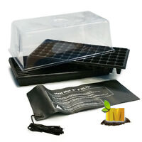 Hydroponics Propagation Heating Mat Cloning Seeding Cell Water Tray Plant Dome