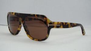 b810521066924 Tom Ford Omar TF 465 56J Tortoise Aviator Sonnenbrille Sunglasses ...