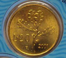 ITALIA REPUBBLICA 1968-2001 SERIE COMPLETA 20 LIRE DA DIVISIONALE ZECCA FDC