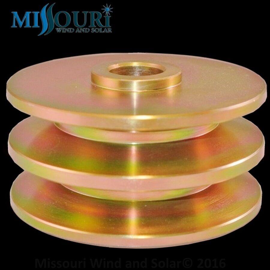 "Cooling fan 1//2/"" pulley 60MM 4 permanent magnet alternator pma//pmg 17mm shaft"