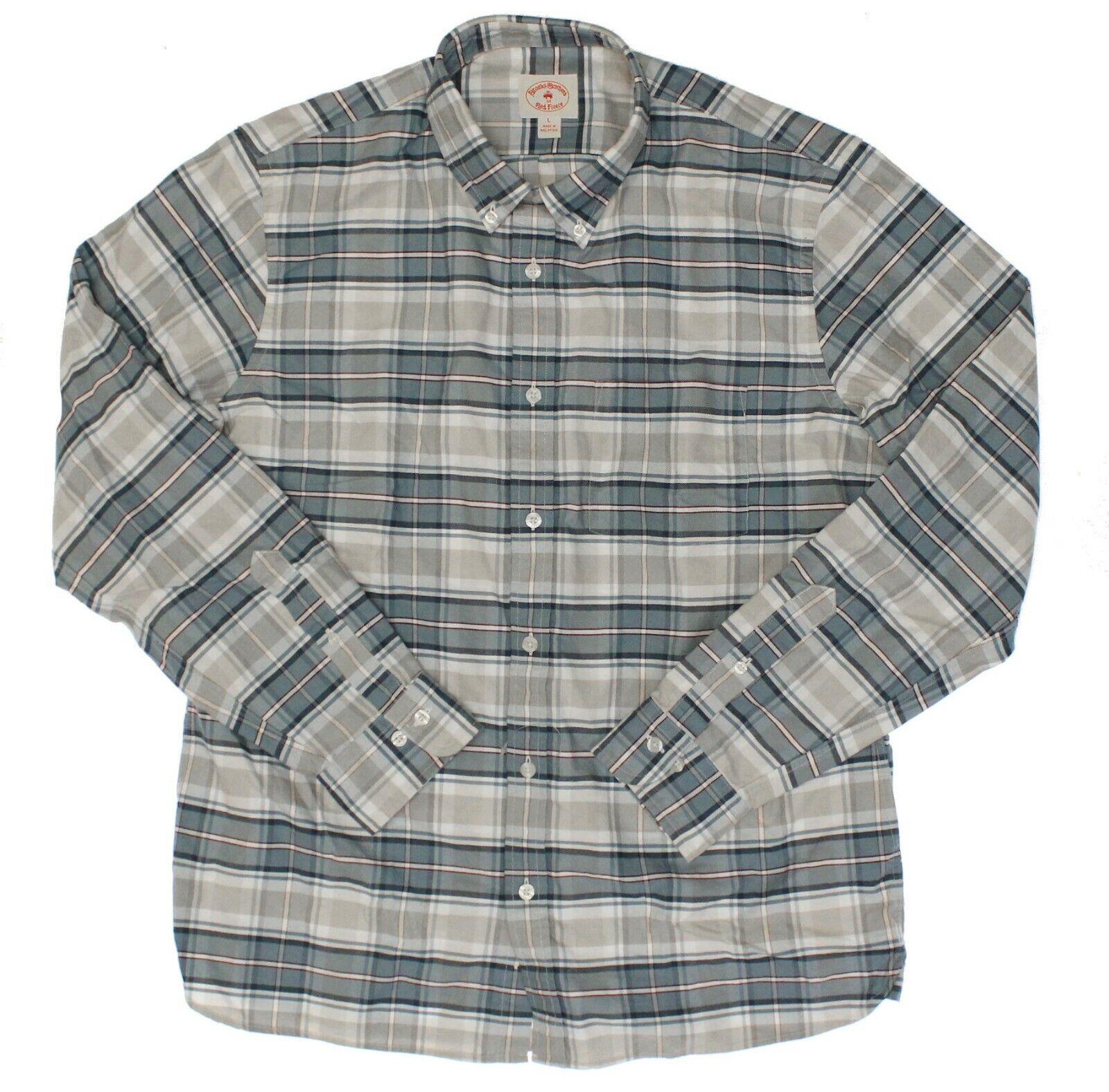 Brooks Brojohers para hombres  100109878 Azul Bronceado Rojo Crema a Cuadros Camisa de deporte-L  más orden