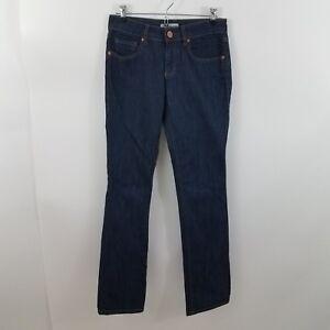 CAbi-Women-039-s-Jeans-Dark-Wash-Mid-Rise-Lou-Lou-334-Straight-Leg-2