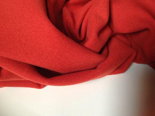 """Designer Burnt Orange Colour Cashmere Touch Washable Wool Fabric 54/""""138cm Catwlk"""