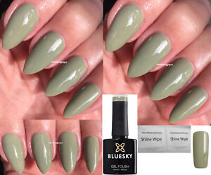 Details About Bluesky Green Olive Green Ss1908 Ivy New 2019 Nail Gel Polish Uvled Soak Off