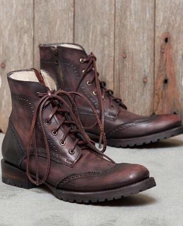 Freebird by Steven Oscar Men's Ankle Boot Wine Lethr Size 11 But Fits Like 12