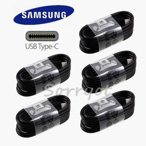 5x-OEM-Original-Samsung-Galaxy-S8-S9-plus-Type-C-cable-fast-charger-4FT-New