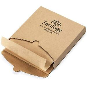 Zenlogy Unbleached Pre Cut 4x4 Parchment Paper Square