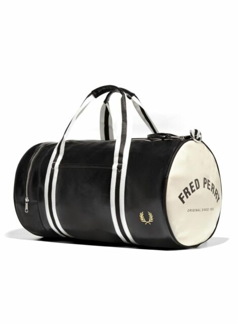 Fred Perry Bags - Classic Barrel Bag - Black - Ecru - L3330 - D57- 112947b71b45c