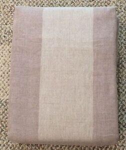RESTORATION HARDWARE Linen-Cotton Sheer Stripe Drapery RP Panel 50x120 Linen
