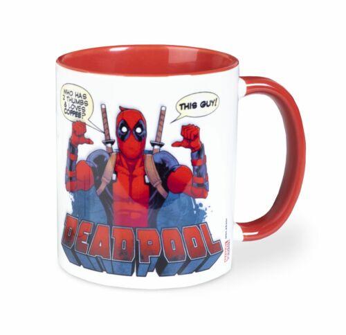 Oficial Marvel Deadpool 2 pulgares Taza De Café Taza De Té Nuevo en Caja de Regalo Pyr