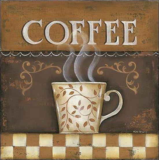 Kim Lewis   Caffè barella-immagine Schermo caffé cucina sala sala sala da pranzo TAZZA cb0793