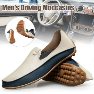 Men-039-s-Driving-Moccasins-Casual-Boat-Shoes-Leather-Shoes-Light-Slip-On-Loafers