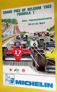 GRAND-PRIX-DE-FORMULE-1-FRANCORCHAMPS-1983-AFFICHE-DE-GRATON-SUPERBE