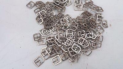 10 x Hebilla De Metal Una sola Punta Zapato BKL/guarnicionero Leather Craft Cinturón Correa 12 mm