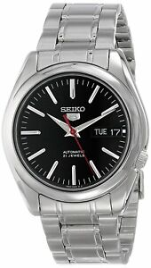Seiko-5-SNKL45-Automatic-Day-Date-Black-Dial-Stainless-Steel-Mens-Watch-SNKL45K1