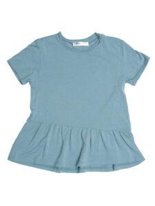 311ca3ea2 Joah Love Girls T Shirt Top Lake Blue Heaven Cotton Ruffle Seam ...