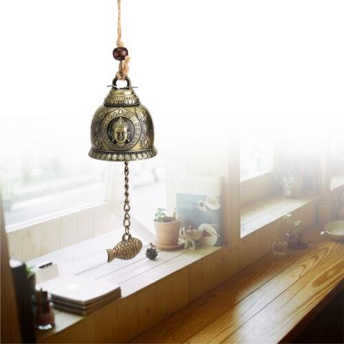 Glocke Windspiel Klangspiel Feng Shui Kupfer Glücksbringer Garten Fenster Deko