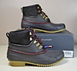 72b954e4f726 Image is loading NIB-TOMMY-HILFIGER-RINAH-BLACK-SNOW-BOOTS-WINTER-
