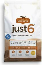 Rachael Ray Nutrish Just 6 Natural Dry Dog Food Lamb Meal&brown Rice Recipe 6lbs