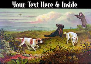 La Chasse Vintage Personnalise Tir Setter Labrador Peres Jour Carte Anniversaire Ebay