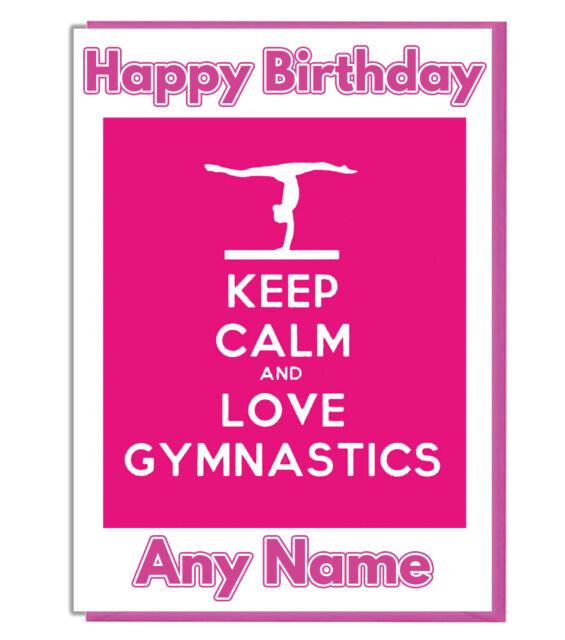 Personalised Boy Gymnast Gymnastics Birthday Card