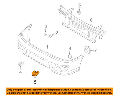 SUBARU OEM 97-01 Impreza-Bumper Cover Right 57744FA060NN