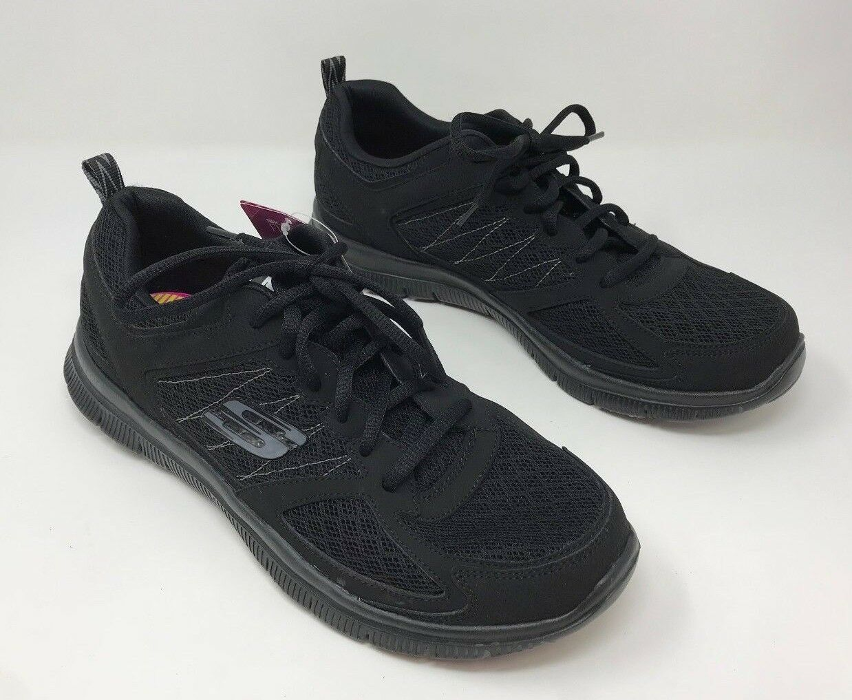 New  Women's Skechers 12452 Flex Appeal - Epicenter Athletic shoes Black C7