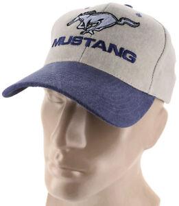 Ford Mustang Cap Hat Black /& Khaki Tan Mach 1 GT Shelby CVT Cobra