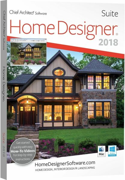 My 3d Room Design: Home Designer Suite Chief Architect Software 2018 - DVD
