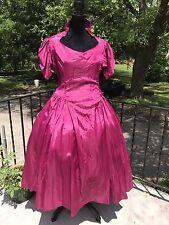 Vtg 80s Magenta Pink Party Prom Bridesmaid Dress XXXL XXXXL Plus Size
