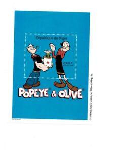 Niger-Popeye-The-Sailorman-Souvenir-Sheet-MNH