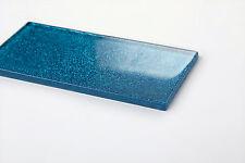 Glas Wand Fliese Blau mit Glitzer Fliese ist 7.5cm x 15cm. Stärke 6mm (MT0110)