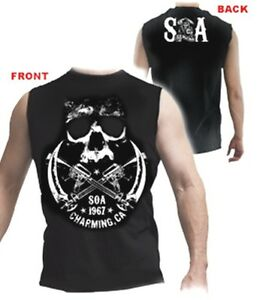 AUTHENTIC-SONS-OF-ANARCHY-CROSSED-WEAPONS-SOA-MUSCLE-T-SHIRT-S-M-L-XL-2XL-3XL