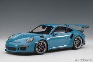 1:18 Autoart 78167 Porsche 911 (991) Gt3 Rs (miami Bleu/gris Foncé