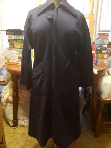 Slim Britain Jaeger Shipping Coat 100 Euc M Free Vtg Blue Great Zipper Wool wIqaPwg