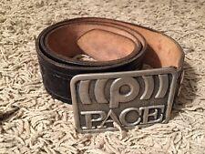 """Vintage 1976 PACE Sound Satellite Signal Uniform Belt Buckle Rare, Size 37""""-42"""""""