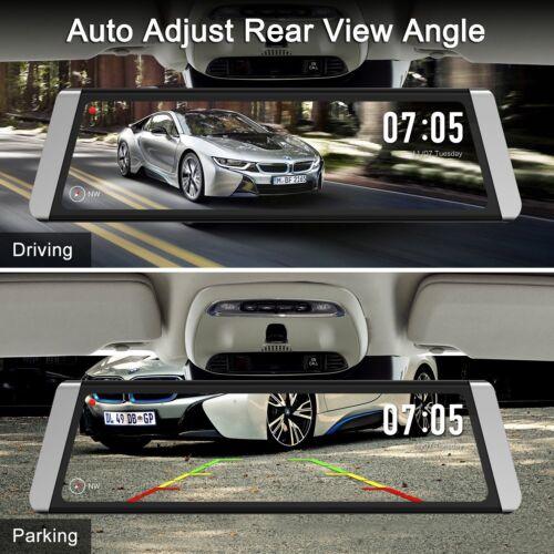 Autovox X1 Dash Cam 9.88/'/' Dual Lens Car DVR Rearview Mirror Recorder Camera