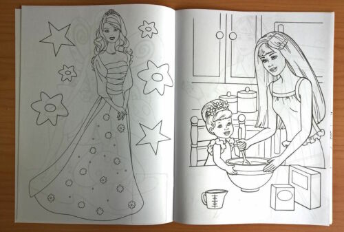 Other Toys Games 1 X Barbie Colouring Book 16 Pages With 2 Pages Stickers Com