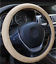 thumbnail 5 - Beige PU Leather Car Vehicle Steering Wheel Cover 15'' 38cm Fits All Seasons