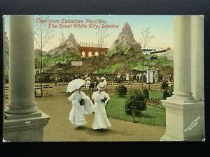 Franco British Exhibition 1908 CANADIAN PAVILION & SCENIC RAILWAY Postcard