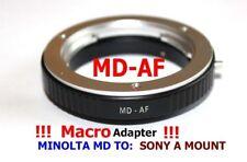 MD - AF  Minolta MD Objektiv Lens  Adapter an -To Minolta AF Sony Alpha A Mount