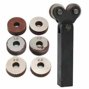 0-5-1-2mm-Pitch-Dual-Wheel-Slant-Zaehne-Raendelwerkzeug-fuer-Metalldrehmaschine
