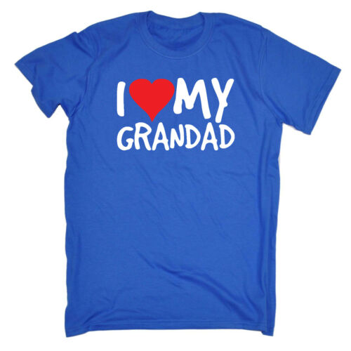 Funny Kids Childrens T-Shirt tee TShirt I Heart Love My Grandad