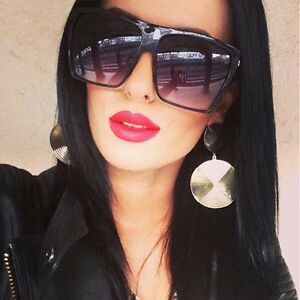 flat top designer sunglasses  BLACK FLAT TOP SUNGLASSES women oversized xl xxl large huge big ...