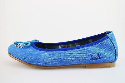 Mädchen schuhe LULU' 29 EU ballerinas blau segeltuch AG638-B