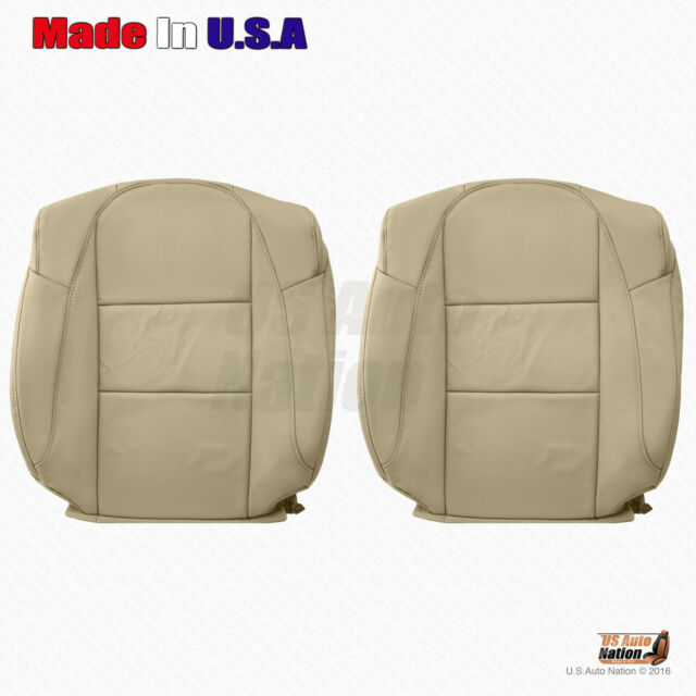 Driver & Passenger Tops Tan Perforated Leather Cover For