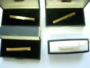 Confiant Lot 4 Pince A Cravatte Plaqué Or Dont 1 Argent No épingle Bonne Conservation De La Chaleur