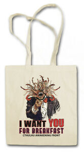 I WANT YOU CTHULHU STOFFTASCHE H P Lovecraft Arkham Wars Miskatonic Fun