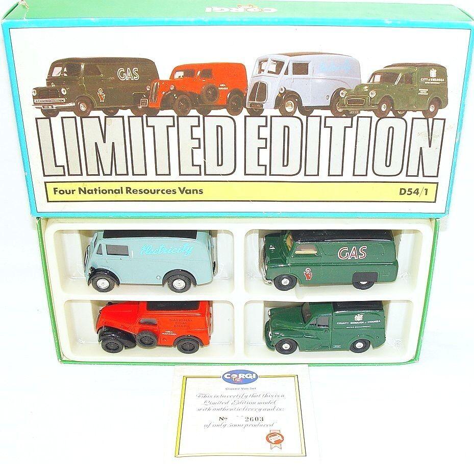 Corgi Toys 1 43  recursos nacionales  Bedford Morris Minor Fordson 4-Car conjunto menta en caja
