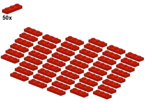 3623-01 50Stk - Platte Plates LEGO® Rot 1x3 Red